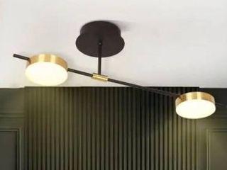 modern semi flush ceiling light 2 light