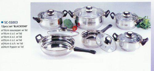 Blackstar 12 piece Stainless Steel Cookware Set