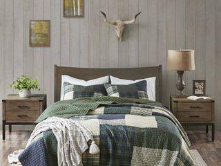 Woolrich Mill Creek Green Oversized Cotton Quilt Set Retail 124 99