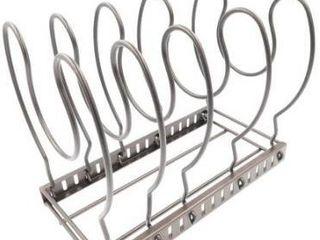 Evelots Adjustable pan organizer rack