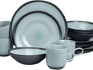 Euro Ceramica Diana 16 Piece Modern Dinnerware Set