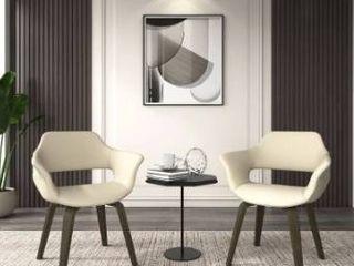 Corvus Patrizio Mid Century Modern Accent Chair  Set of 2  Retail 271 99