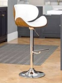 Strick   Bolton lega Modern Adjustable Swivel Barstool Retail 96 49