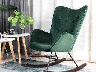 Carson Carrington Idbyn Velvet Rocking Chair Retail 251 49