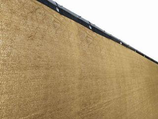 AlEKO Beige 8 X50 Outdoor Windscreen Fence Privacy Screen with Grommet   8 feet tall x 50 feet long