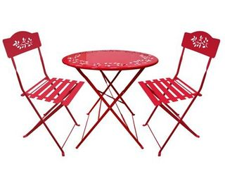 Alpine Corporation 3 Piece Red Bistro Set Retail 137 49