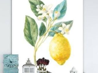 Designart Floursack lemon I Cabin and lodge