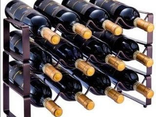 3 tier stackable wine rack 12 bottles  missing hardware