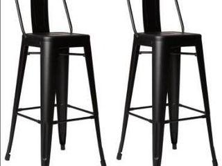 Carbon loft Ruska Steel 30 inch Bar Stool  Set of 2  Retail 92 99
