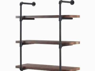 KIM lOS 3 SHElVES SYSTEM Industrial Style Wall Pipe Shelving