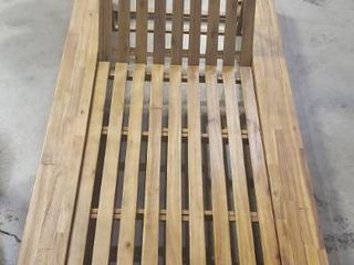 76 5in X 39in Wood Outoor Chaise lounge Chair  TEAK IJ Expensive Pool Furniture