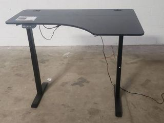 SHW 55 Inch large Electric Height Adjustable Computer Desk  55 x 28 Inches  Adjustable Up To 45in Black