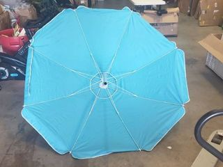 7ft Blue Umbrella With Pole Extender