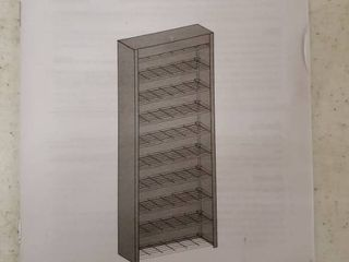 Black Shoe Rack With Cover 68in  Tall 3 Ft  Wide