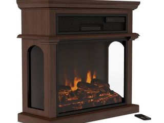Northwest 29 in  Freestanding Electric Fireplace with Mantel   Remote Control   Brown   Tested   Working
