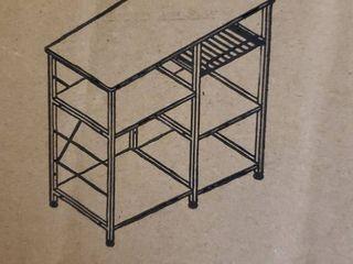 Kitchen Baker s Rack Vintage Utility Storage Shelf Microwave Stand 3 tier