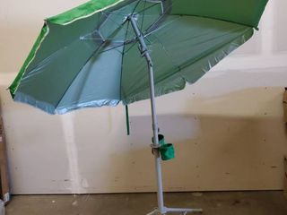 WONDERSHADE Portable Sun Protection Green W Cup Holders Missing One Canopy Track   See Photos