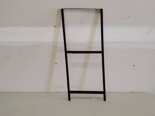 Brown Metal And wood Storage Unit W 5 Brown Cloth Drawers  Some Damage See Photos