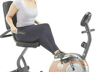 Marcy Recumbent Exercise Bike with Resistance ME 709