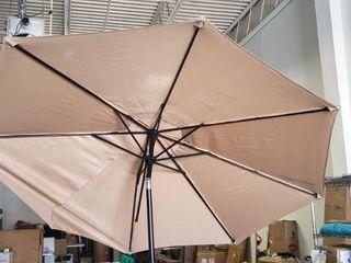 9ft Tan Crank Patio Umbrella Base Not Included
