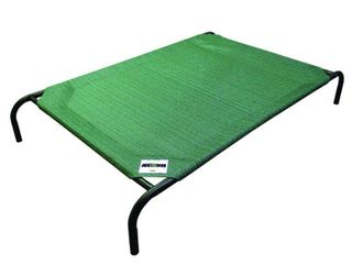 The Original Coolaroo Elevated Pet Dog Bed for Indoors   Outdoors  large  Green
