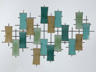 luxen Home Metal Abstract Geometric Wall Decor