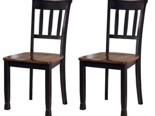 Signature Design by Ashley Owingsville Dining Room Side Chair Set of 2 Black Brown