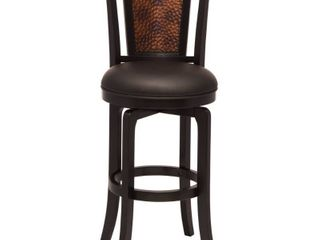 Norwood Swivel 26 5  Counter Stool Wood Black   Hillsdale Furniture