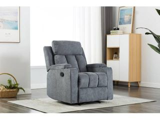 Ottomanson Cozy Comfortable Cushioned Recliner with Cup Holders