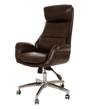 Glitzhome Mid Century Modern Bonded leather Adjustable Office Chair Retail 259 49