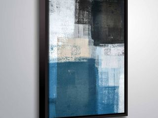 ArtWall  Abstract Blue II  Gallery Wrapped Floater framed Canvas