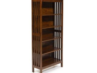 Furniture of America Till Contemporary Oak Solid Wood Media Shelf Retail 184 99