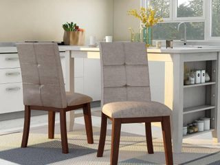 Furniture of America Yria Midcentury Modern Grey Dining Chairs  Set of 2  Retail 181 49