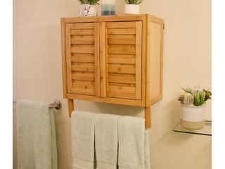 Porch   Den Burning Tree Solid Bamboo 2 door Wall Mount Spa Cabinet