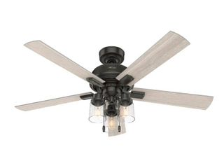 Hunter 52  Hartland low Profile Ceiling Fan with lED light and Pull Chain Retail 229 99