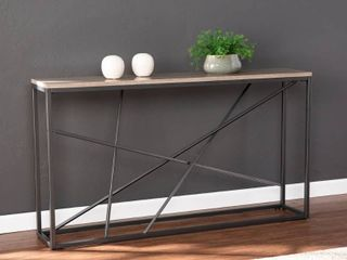 Strick   Bolton Sigrid Faux Marble Skinny Console Table Retail 144 99