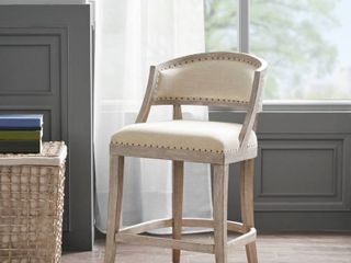 Madison Park Wheatley Natural Counter Stool   21 W x 24 5 D x 37 25 H Retail 388 49