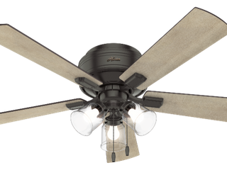 Hunter 52  Crestfield Noble Bronze Ceiling Fan with light Kit and Pull Chain