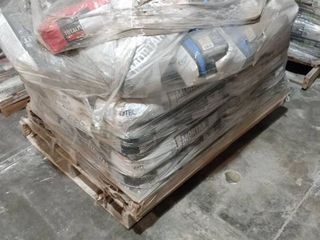Pallet of Various Mortar  Grout  Patch