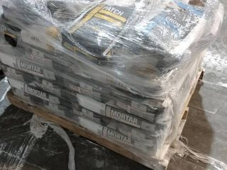 Pallet of Mortar for Floors  Grout  and Patch