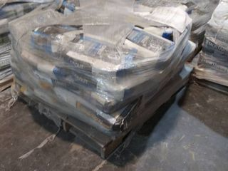 pallet of self leveler and grout