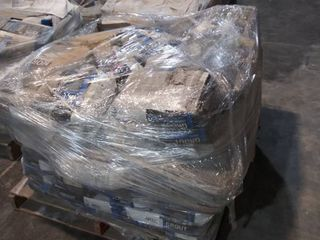 mixed pallet of mortar and grout