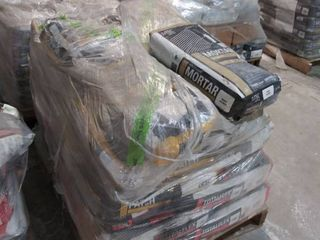 mixed pallet of total flex universal mortar white  surface prep patch  1 bag mortar uncoupling  white
