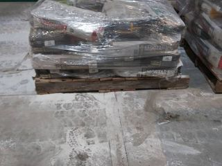 mixed pallet of mortar  surface prep patch  grout