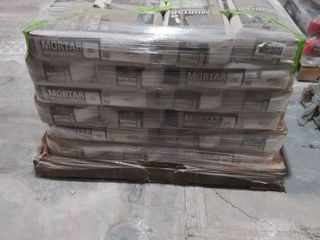 pallet of mortar for large tile and stone