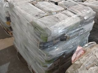 pallet of 37 bags or mortar for ceramic gray  4 bag of mortar uncoupling  white  and 1 bag mortar for floors gray