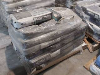 mixed pallet of mortar  fast setting  for glass and for porcelain
