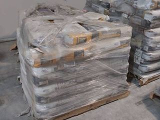 mixed pallet of mortar and self leveling underlayment