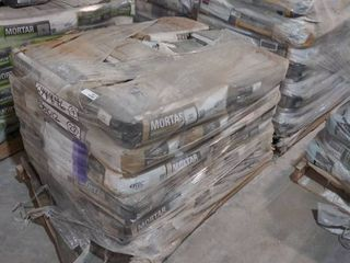pallet of mortar uncoupling  white and mortar for floors gray