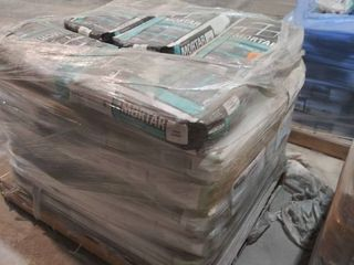 mixed pallet of mortar  36 for ceramic white and 5 for glass block white